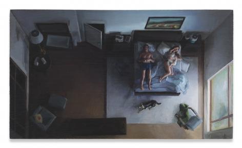 Amy Bennett, Animals, 2018, Oil on panel