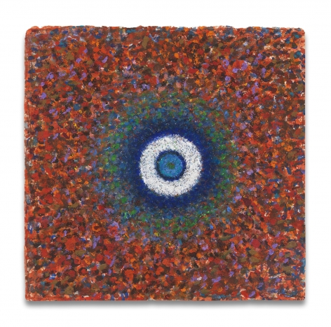 Richard Pousette-Dart, Centered, Romanesque, 1968, Oil on paper, 11 3/8 x 11 1/2 inches, 28.9 x 29.2 cm, MMG#30460,