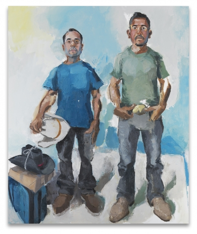 Miguel & Christian, 2017, Oil on canvas, 72 x 60 inches, 182.9 x 152.4 cm, MMG#29521