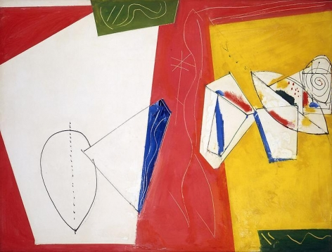 """Composition No. 5,"" 1950, Oil on canvas, 36 x 48 inches, 91.4 x 121.9 cm, A/Y#3946"
