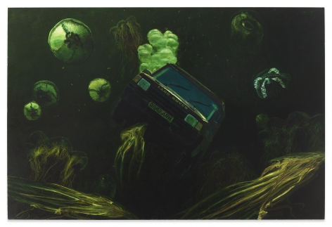 Steve Mumford, Land Rover, 1999, Oil on canvas, 56 x 84 inches, 142.2 x 213.4 cm, MMG#32536