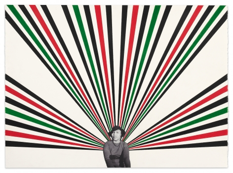 Zora #2, 2020, Color pencil and photograph collage on paper, 22 1/8 x 30 3/8 inches, 56.2 x 77.2 cm,MMG#32528