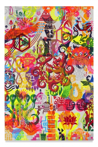 Ryan McGinness, Taipei Dangdai 3, 2019, Acrylic on linen, 60 x 40 inches, 152.4 x 101.6 cm, MMG#31809