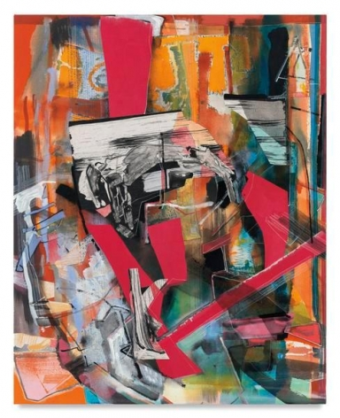 Nestinarka, 2016, Acrylic, oil and collage on canvas, 40 x 32 inches, 101.6 x 81.3 cm, AMY#28317
