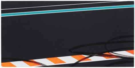 Brian Alfred, Traction, 2014, Acrylic on canvas, 12 x 24 inches, 30.5 x 61 cm, A/Y#21955