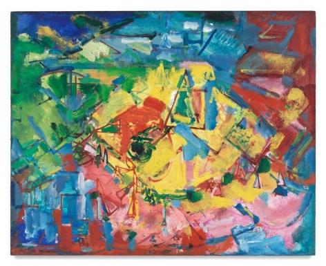 Hans Hofmann, [Landscape], c. 1941, Oil on panel, 24 x 30 inches, 61 x 76.2 cm, AMY#9384