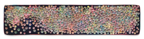 HELLOWORLDYOULAYITDOWN, 2017, Epoxy resin and pigments on wood, 24 x 108 inches, 61 x 274.3 cm, MMG#29646