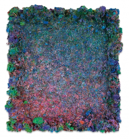 DeepDrippings (Studio Hiss Version), 2020, Oil on board, 20 1/2 x 18 3/4 inches, 52.1 x 47.6 cm,MMG#32150