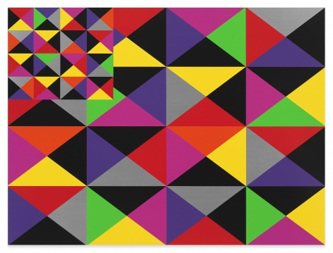 Rico Gatson, Untitled (Flag VII), 2020, Acrylic paint on wood, 36 x 48 inches, 91.4 x 121.9 cm, MMG#33135
