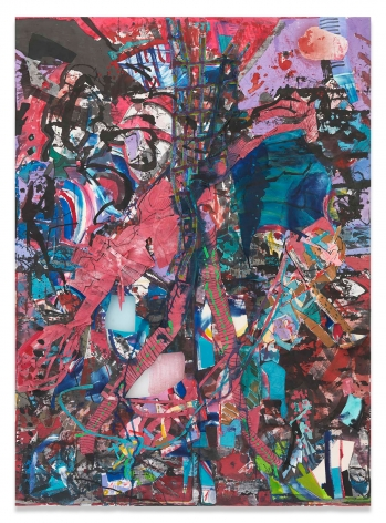 Limbs, Leaves, Eddies, 2019,Acrylic and collage on muslin,110 x 80 inches,279.4 x 203.2 cm,MMG#31624