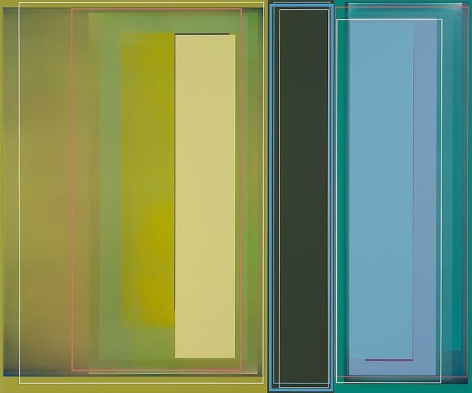 """Bass Fishing,"" 2011, Acrylic on canvas, 49 x 59 inches, 124.5 x 149.9 cm, A/Y#19959"