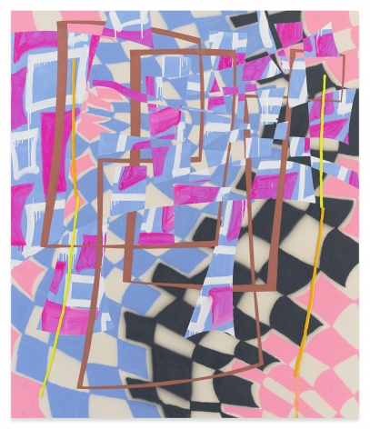 Trudy Benson, Light Pink Path, 2021, Acrylic and oil on canvas,77 1/8 x 66 1/8 inches, 195.6 x 167.6 cm, MMG#33117
