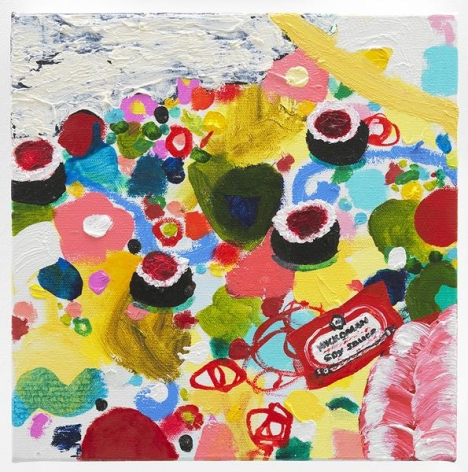 Shrimp Shumai, 2016, Oil on canvas, 10 x 10 inches, 25.4 x 25.4 cm, AMY#28688