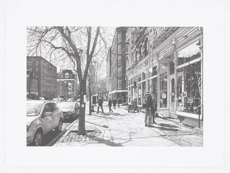 Hudson Street, 2016, Pencil on Bristol Board, 15 x 22 inches, 38.1 x 55.9 cm, AMY#28666