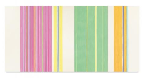 Gene Davis,Yellow Jacket, 1969,Acrylic on canvas,107 1/4 x 220 inches,272.4 x 558.8 cm,MMG#19554