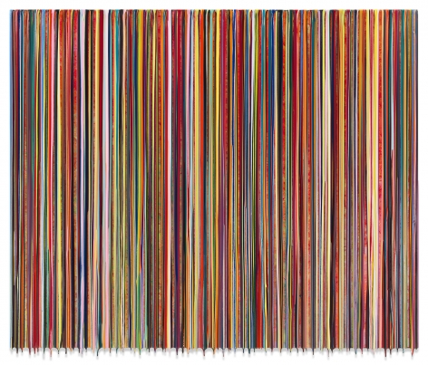 Markus Linnenbrink, TOOSOONTOPANIC, 2019, Epoxy resin and pigments on wood, 60 x 72 inches, 152.4 x 182.9 cm, MMG#31801