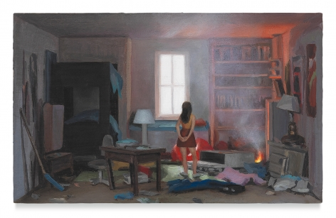 Amy Bennett, Problem Child, 2018, Oil on panel