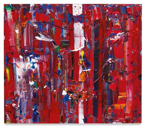 Michael Reafsnyder, Red Rocket, 2019, Acrylic on linen