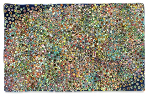 ALONEIWALKEDINRESTLESSSTREETS, 2020, Epoxy resin and pigments on wood, 60 x 96 inches, 152.4 x 243.8 cm,MMG#32673