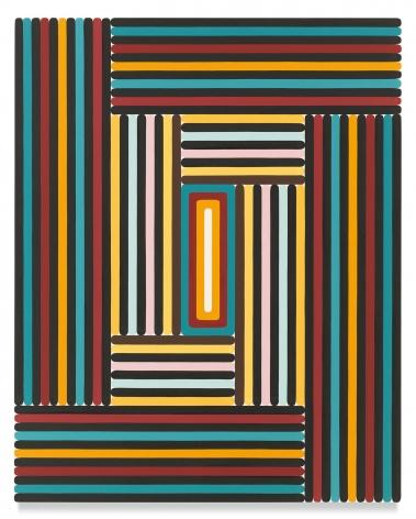 Warren Isensee, Djanga, 2017, Oil on canvas, 40 x 32 inches