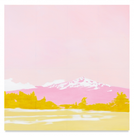 Pink Mountain, 2019, Mixed media oil on canvas, 63 x 63 inches, 160 x 160 cm,MMG#32043