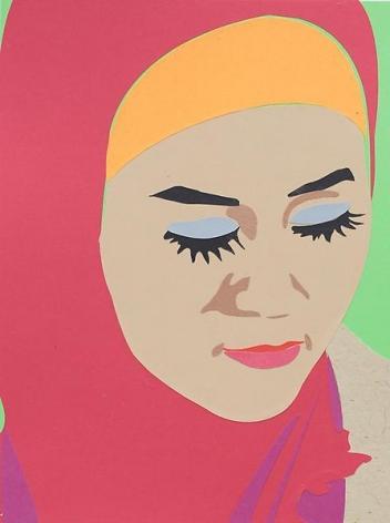 Brian Alfred, Hajib, 2014, Collage, 10 1/4 x 7 3/4 inches, 26 x 19.7 cm, A/Y#21509