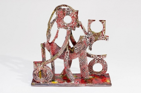 """TAM VAN TRAN, """"Soldier 6,"""" 2012-13, Low-fired glazed ceramic and glass, 18 3/4 x 18 1/2 x 6 1/4 inches, 47.6 x 47 x 15.9 cm, A/Y#20916"""