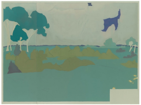 692 (At Jullo Callo, landscape after Darger), 2014, Oil on linen, 54 x 72 inches, 137.2 x 182.9 cm, A/Y#22288
