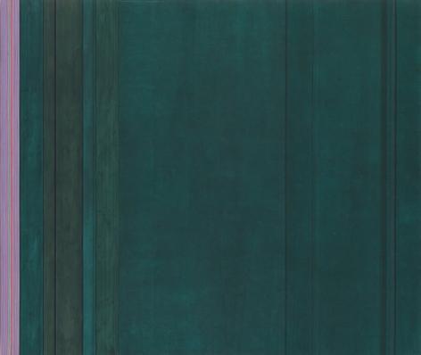 """""""Mark Twain (Shark Gate),"""" 1972, Acrylic on canvas, 92 x 108 1/2 inches, 233.7 x 275.6 cm, A/Y#19550"""