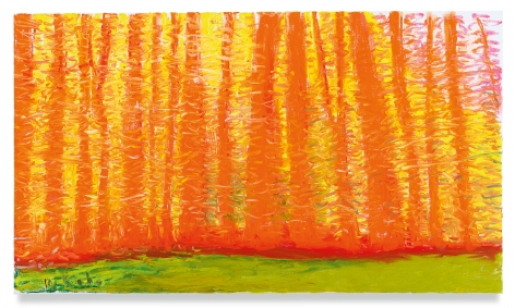 On a Green Ground, 2019,Oil on canvas,30 x 52 inches,76.2 x 132.1 cm,MMG#31166