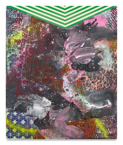 I Can't Breathe #7, 2020, Mixed media on wood panel, 72 x 59 3/4 inches, 182.9 x 151.8 cm