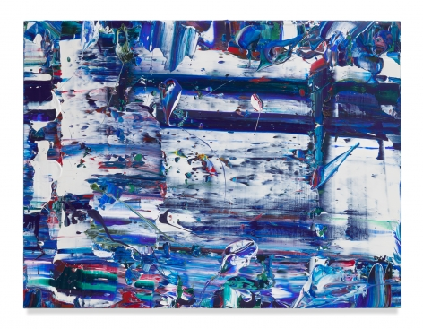 Michael Reafsnyder,Blue Slide, 2020, Acrylic on linen, 38 x 50 inches, 96.5 x 127 cm,MMG#32917
