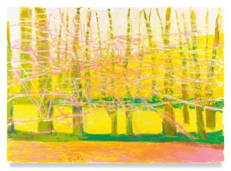 Wolf Kahn, Bright Spring, 2019, oil on canvas
