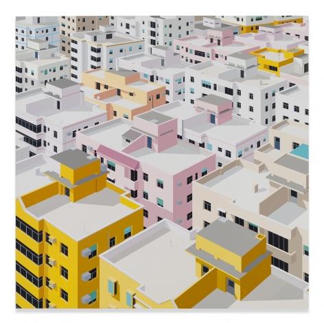 Daniel Rich, Shenzhen, 2018, Acrylic on Dibond, 60 x 60 inches, 152.4 x 152.4 cm, MMG#31305