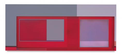 Desert House (for Divola), 2016, Acrylic on canvas, 30 x 72 inches, 76.2 x 182.9 cm, AMY#28492