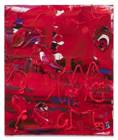 Michael Reafsnyder, Red Dude, 2018, Acrylic on linen, 18 x 15 inches, 45.7 x 38.1 cm, MMG#30017