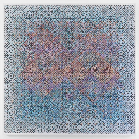 Crossword, 2015, Watercolor on paper mounted on archival Tycore, 75 1/2 x 76 1/4 inches, 191.8 x 193.7 cm, AMY#27922