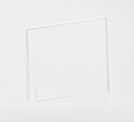 Untitled, 2013, Cotton cloth on paper, 17 x 17 inches, 43.2 x 43.2 cm, A/Y#22063