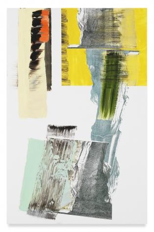 PIA FRIES, pylon kQ, 2018, Oil and silkscreen on wood, 39 3/8 x 25 5/8 inches, 100 x 65 cm,(MMG#31848)
