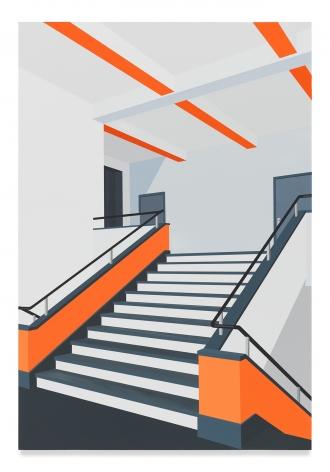 Bauhaus (Orange), 2018,Acrylic on dibond,31 1/2 x 21 5/8 inches,80 x 55 cm,MMG#31504