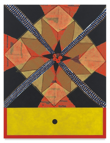 Roy Dowell, untitled #1069, 2015, Acrylic on linen over panel