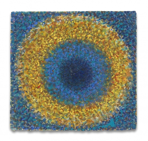 Richard Pousette-Dart, Center into the Heart, 1969, Oil on paper, 11 3/4 x 11 1/4 inches, 28.6 x 29.8 cm, MMG#30459,