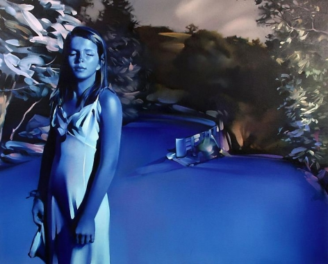REBECCA CAMPBELL, Sleep Walker, 2009, Oil on canvas, 36 x 44 1/2 inches, 91.4 x 113 cm, A/Y#18653