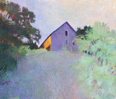 Barn Atop a Ridge, 1987, Oil on canvas, 72 x 84 inches, 182.9 x 213.4 cm, A/Y#18283