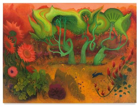 Orange Fall, 2020, Enamel on canvas, 72 x 96 inches, 182.9 x 243.8 cm, (MMG#32033)