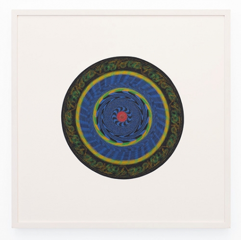 Target 01, 2006, Uncoiled paper dartboard, 34 1/4 x 34 1/4 inches, 87 x 87 cm, AMY#27979