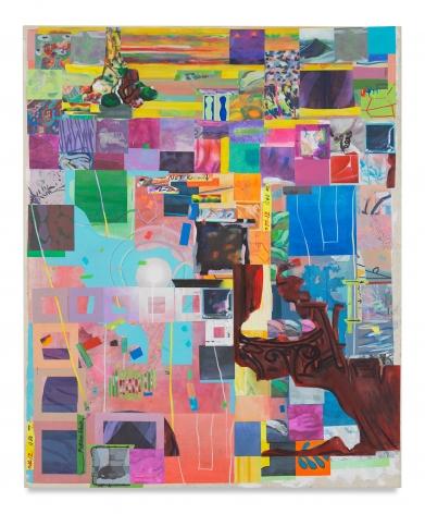 Franklin Evans, berggruendrift, 2017, Acrylic on canvas