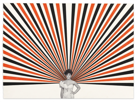 Diahann #2, 2020, Color pencil and photograph collage on paper, 22 1/8 x 30 3/8 inches, 56.2 x 77.2 cm,MMG#32524