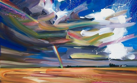 """""""Bow 7,"""" 2011, Oil on canvas, 29 x 48 inches, 73.7 x 121.9 cm, A/Y#19945"""
