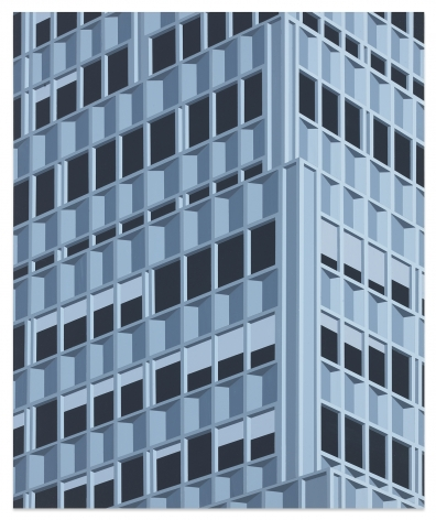 Daniel Rich, 99 Park Ave (Blue), 2020, Acrylic on dibond, 18 7/8 x 15 1/2 inches, 47.9 x 39.4 cm, MMG#32637